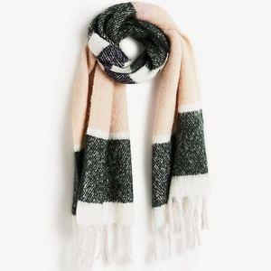 Ann Taylor brushed striped rectangular scarf NWOT